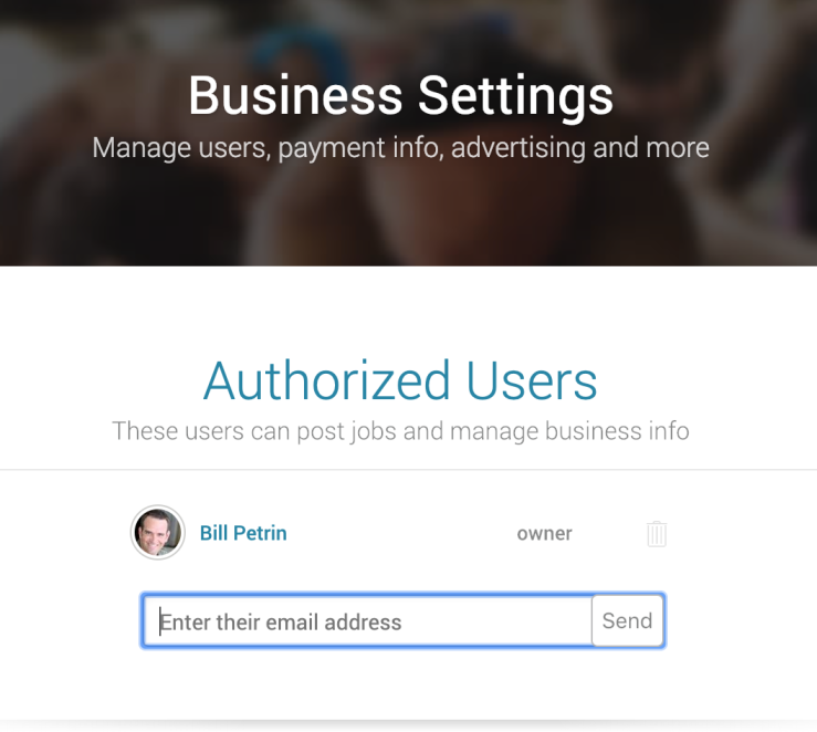 business settings for Namafit account
