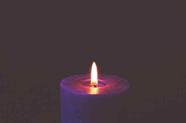 burning candle for meditation