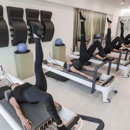 Pilates Reformers being used