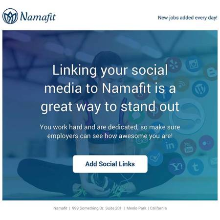 Link your social media to your professional Namafit page