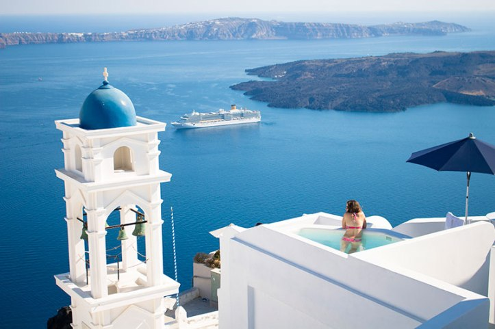 Greek Island with rooftop pool
